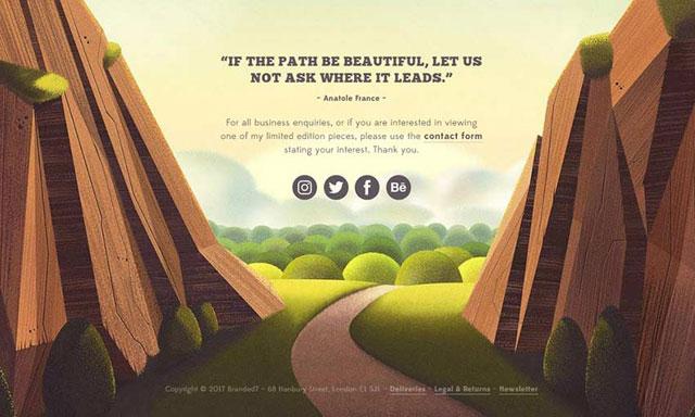 上海网站设计分享网页设计中的12个天然插图示例